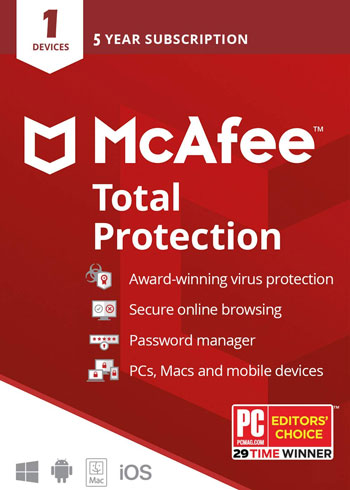 McAfee Total Protection 2020 1 Device 5 Years Key Global, mmorc.vip