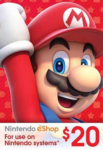 Nintendo eShop Gift Card 20 USD US, mmorc.vip