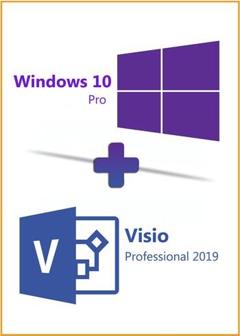 Windows 10 Pro + Visio Pro 2019 Key Global Bundle, mmorc.vip