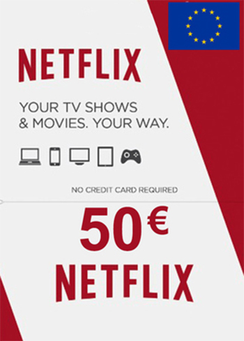 Netflix 50 EUR Gift Card EUROPE, mmorc.vip