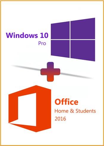 Windows 10 Pro + Office 2016 Home & Students Key Global Bundle, mmorc.vip