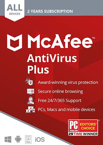 McAfee AntiVirus Plus 2020 10 Devices 2 Years Digital Code Global, mmorc.vip