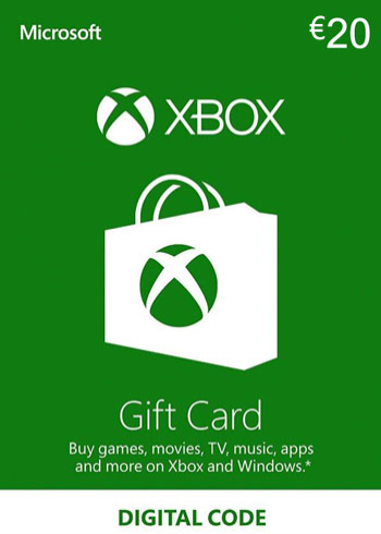 Xbox Live Gift Card 20 Euro Europe, mmorc.vip
