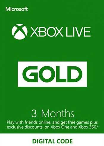 Xbox Live 3 Months Gold Subscription Card Global, mmorc.vip