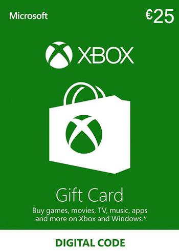 Xbox Live Gift Card 25 Euro Europe, mmorc.vip