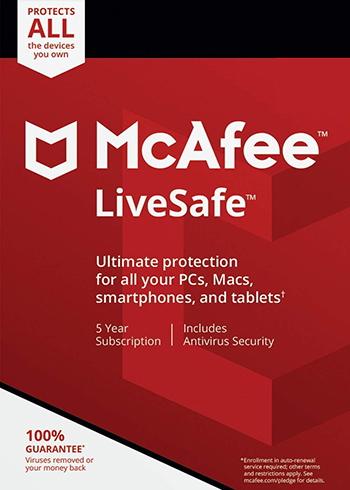 McAfee Livesafe 2020 Unlimited Devices 5 Year Digital Code Global, mmorc.vip